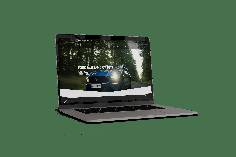 Webseite für FP-Dreamcars Autovermietung Wettenberg