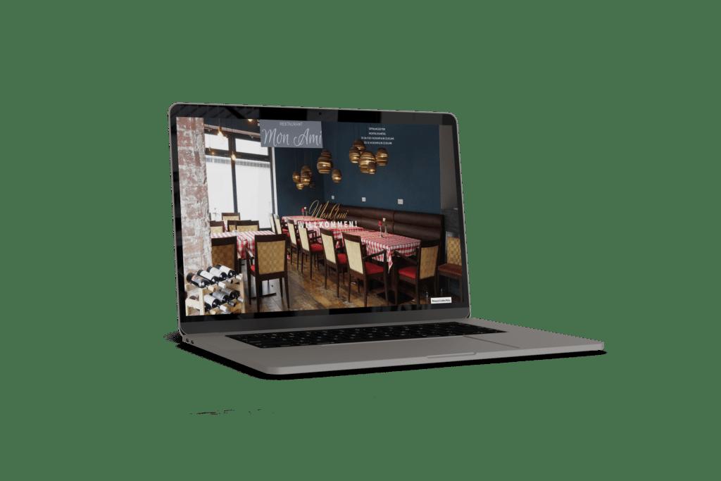 Webseite des Restaurants Mon Ami Marburg