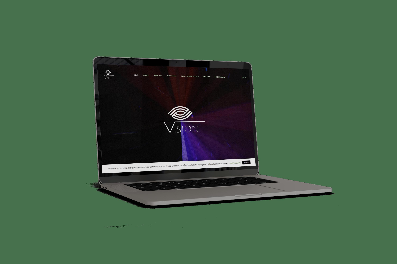 Webseite für Vision Music Lounge Marburg
